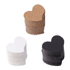 Ootdty 100 Pièces 4.5x4 Cm Coeur Forme Vierge Kraft Papier Carte Étiquette Cadeau Étiquette Bricolage Fête De Mariage Artisanat