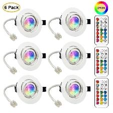 Led Spots Encastrables Orientable Gu10 Ampoule Rgb Couleur Changement Lampe Blanc Chaud 2700k De Plafond Du Jour Plafonnie(6er Set)