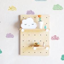 Sticker mural à motif nuage