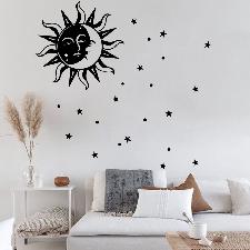 Sticker mural avec imprimé lune