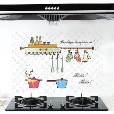 Sticker mural de cuisine antikérosène