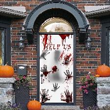 Sticker de porte à slogan d'halloween