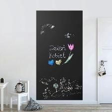 Sticker mural tableau noir rectangulaire