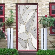 Sticker de porte à motif géométrique