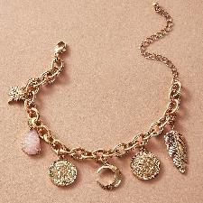 1 pièce Bracelet à breloques de lune et de monnaie