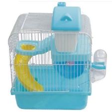 Chaude Hamster Gerbille Souris Petite Cage Pour Animaux De Compagnie 2 Etages Niveaux Plancher Bouteille D'eau Roue