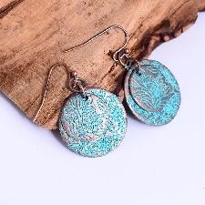Boucles D'oreilles En Bronze Antique Brincos Ethniques Retro Fleurs Pour Femmes Chic Double Rond Charme Vintage Boucle D'oreille En Alliage Chaud