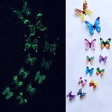 Stickers Muraux Papillon Lumineux Autocollant De Design Artistique? Magnétique? Pour Décor De Maison Maison? Salle? Papier Peint Décoratif? 12 Pièces