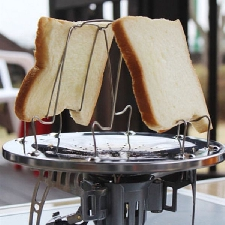 4 tranches Camping pain Toast plateau cuisiniere à gaz cuisiniere barbecue Camping grille-pain