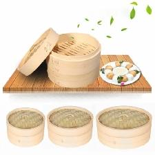 Bambou à Vapeur Panier Portable Hygiénique Asiatique Momo Maker Cuisine Dumpling