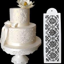 Gâteau de biscuit en plastique décoration d'outil de pochoir pour le mariage