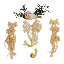 Décoration De Voiture Mariage Guirlande Voiture De Mariage Fleurs Artificielles Pour Décoration De Mariage-Diverses Couleurs Champagne