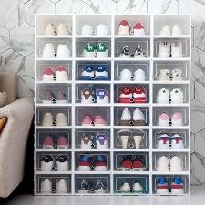 Chaussures Rangement Suspendu 1pc Pliable Chaussures Claires Boîte De Rangement En Plastique Empilable Chaussure Organisateur Boîte De Rangement 2020
