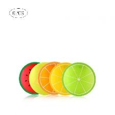 Set De Table En Silicone 6 Pièces   Sous-Verre Créatif Design De Fruits, Set De Table À Café Motif Dessin - Modèle: - Lrcfxgja08274
