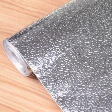 0.61m*5m Autocollant D'huile De Cuisine En Aluminium Film Auto-Adhésif Cuisine Anti Huile Cabinet Wall Paper Adhésif