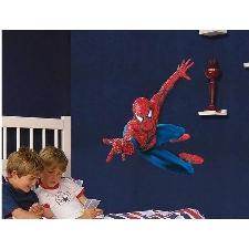 Maxi Geant Sticker Mural Spiderman 3d 90x110 Cm