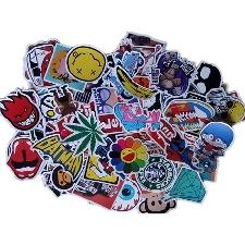 Autocollants Pvc Graffiti Mixte 100pcs Assortis Durable Bagage