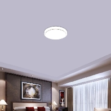 12w Plafonnier À Led Moderne Lampe Plafond Blanc Super Lumineux Rond Pour Salon Salle De Bains Chambre À Coucher - Argenté