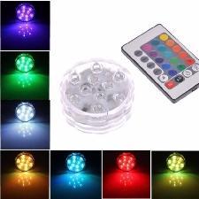 24 Touches Télécommande+Multicolore Bougie Led Lampe Étanche Avec Boîte De Pile Éclairage Décoration Mariage/Fête/Noël/Anniversaire