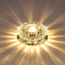 Led Plafonnier Lampe Plafond Cristal Lumière Jaune Pour Salon Salle À Manger Cuisine Chambre À Coucher