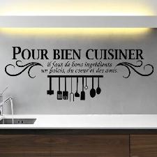 Noir Créative Stickers Muraux Pour Cuisine Décoration À La Maison Fond D'écran
