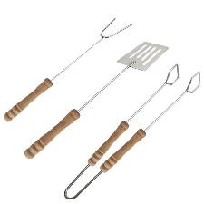 3pcs outils de barbecue fixés pinces à grillade spatule fourchette éponge indolore ustensile de barbecue - Return 2334