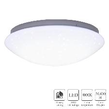 Plafonnier De Led, 12w Led Rond Ciel Étoilé Plafonnier Lumière Pour Salon Chambre Froid Blanc