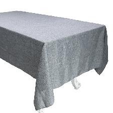 Gray 145x200cm -Vintage Coton Lin Nappe Couleur Unie Thé Table Basse Tissu Pour Cuisine Salle À Manger Rectangulaire Carré Nappe Cou