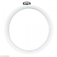 Cadre tambour broderie - Rond Blanc à broder - 17,5 cm