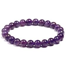 Bracelet En Améthyste Naturelle Pour Femmes, En Pierre Naturelle, Quartz Violet, Perles De 6 8 10mm, Bijoux Cadeaux - Beads 8mm|16cm 6.3inch - 21slsz0