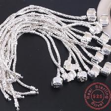 Bracelet Original En Argent Sterling 925 Os De Serpent Bracelet À Breloques, Bijoux Fins De Base Pour Hommes, Fête Bracelet À Breloques Bracelets Pour
