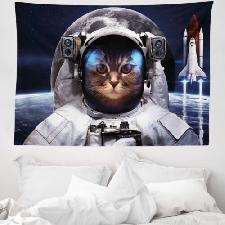 Space Cat Tapisserie Espace voyageurs Animaux