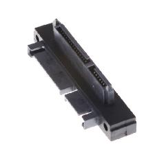 Black SATA 7+15 Pin 22 Pin Male to 22 Pin Female Right Angle Convertor Adapter
