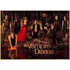 Peinture Au Diamant 5d The Vampire Diaries Cross Stitch - Qz0407b32442