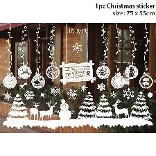 Joyeux Noël Fenêtre Autocollants Père Noël Décoratif Stickers Muraux Décor À La Maison Chambre Salon Amovible Blanc Décalque W-1