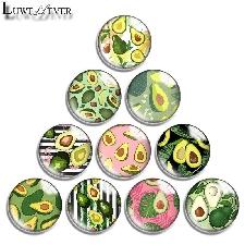 Cabochon En Verre Rond Avec Motifs De Fruits, 10mm, 12mm, 16mm, 20mm, 25mm, 30mm, 643 Glass Cabochon 30mm
