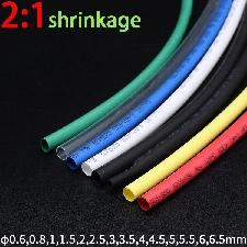 Tube Thermorétractable Dia 5m, 0.6 0.8 1 1.5 2 2.5 3 4 5 6mm Pe 2:1 Ratio Manchon De Câble Isolé, Enveloppe De Fil Pour Réparation De Câbles Électriqu