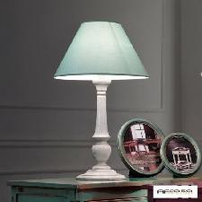 Lampada da Tavolo diametro 40 finitura VERDE FRANCESE - ARTIGIANATO VENETO