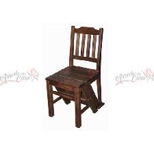 Sedia scaletta stile Inglese scala libreria noce legno