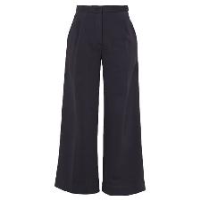 Tela Donna Blu scuro Pantalone Cotone, Poliestere