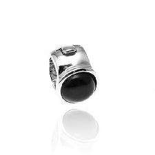 Side Click On charms zwart zirkonia 5mm