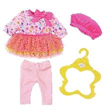 BABY born kledingset voor pop Fashion van 43 cm roze/geel