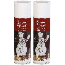 2x Sneeuwspray/spuitsneeuw bussen 150 ml - Kunstsneeuw/nepsneeuw spray