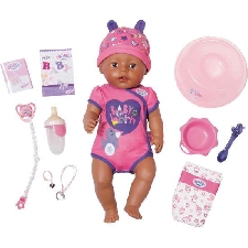 Pop Baby Born Soft Touch 43 cm Girl bruin Babypop Zapf Creations Baby Born