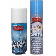 Sneeuwspray set 1x spuitsneeuw bus 150 ml en 1x reinigingsspray 125 ml - Kunstsneeuw/nepsneeuw spray en verwijderaar