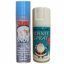 Sneeuwspray set 1x brandvertragende spuitsneeuw bus 150 ml en 1x reinigingsspray 125 - Kunstsneeuw/nepsneeuw spray en verwijderaar