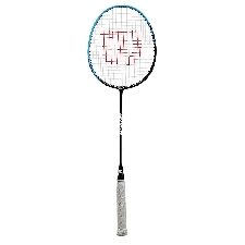 Wilson badmintonracket Reaction 70 aluminium zwart/blauw 2-delig