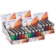 250x Aanstekers in verschillende kleuren 2 x 1 x 8 cm - Sigaretten aanstekers / wegwerpaanstekers