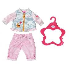 BABY born kledingset voor pop van 43 cm lichtblauw/lichtroze