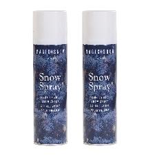 20x stuks busjes met witte spuit sneeuw spray 150 cm voor kerstboom/ramen - kunstsneeuw/nepsneeuw